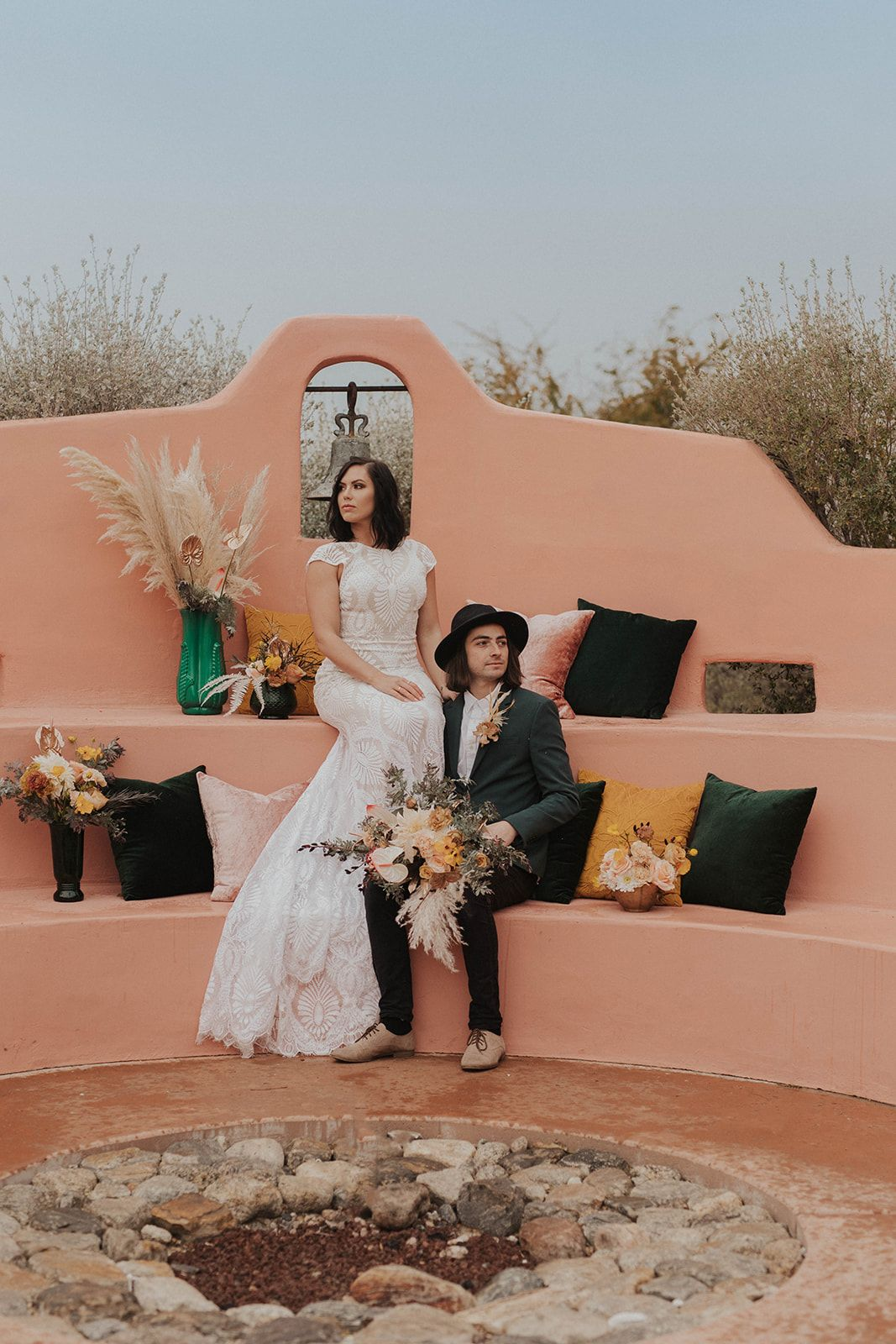 A Bohemian Elopement at the Pond Estate in Palm Springs