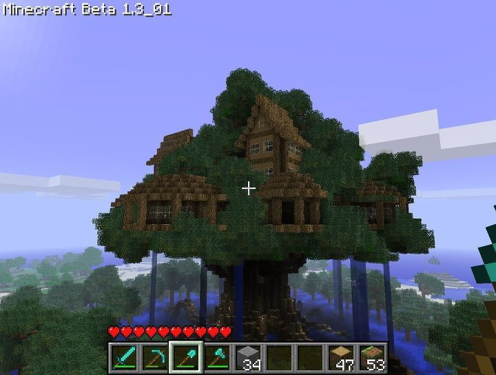 Epic Minecraft Treehouse By Hunterzz Minecraft Creations