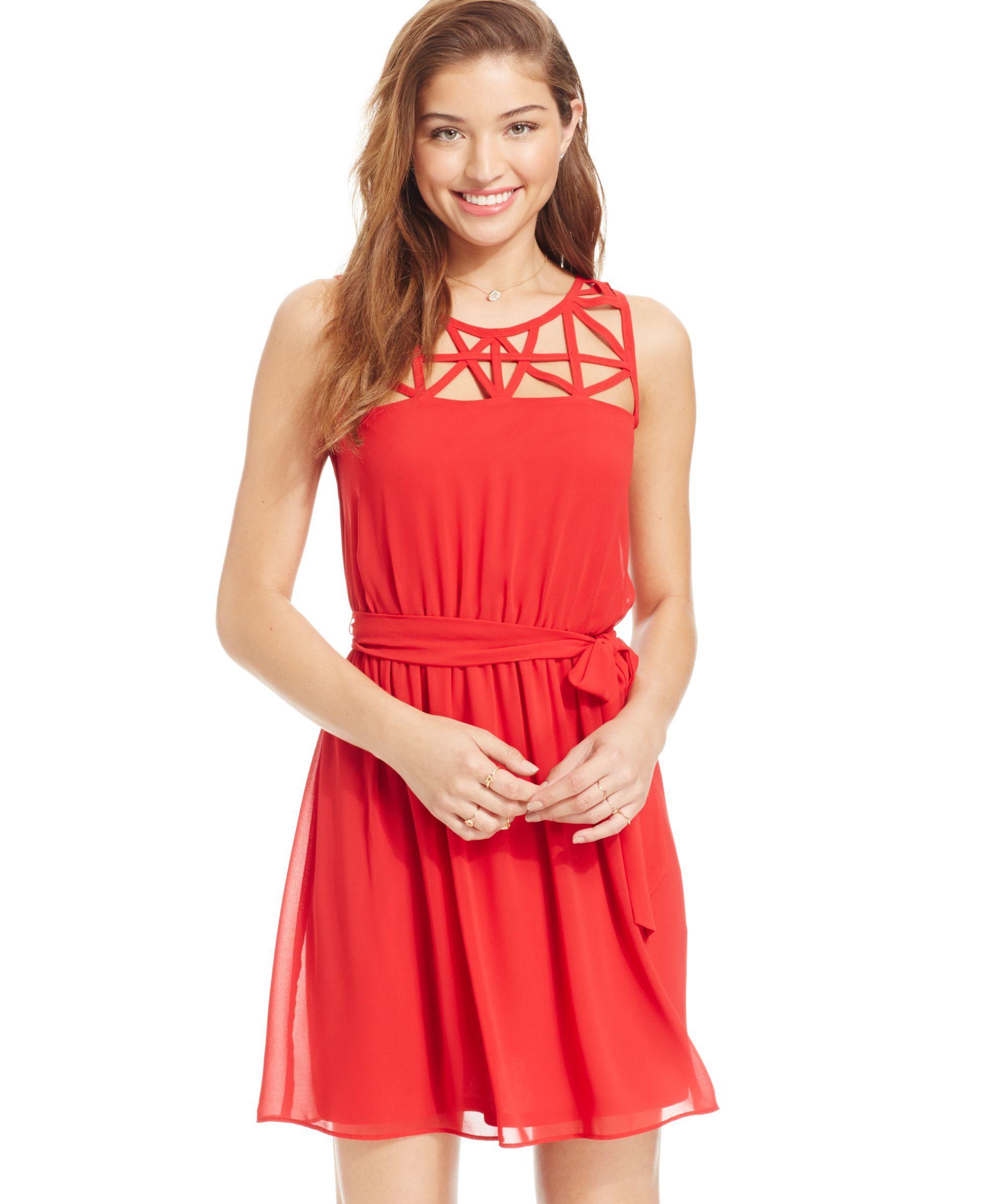 Bcx juniorsu latticefront pleated dress products pinterest