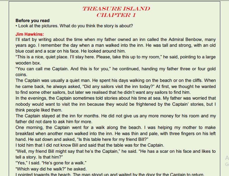 تحميل شرح قصة جزيرة الكنز للصف الاول الثانوى 2020 Pdf على التابلت Treasure Island Jim Hawkins Writing