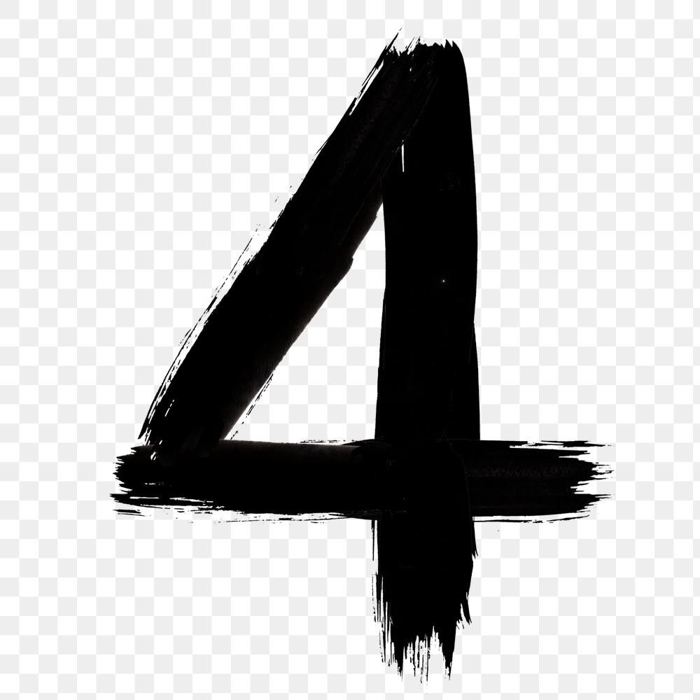 Number 4 Png Grunge Hand Drawn Font Typography Free Image By Rawpixel Com Mind Typography Hand Drawn Hand Drawn Fonts How To Draw Hands