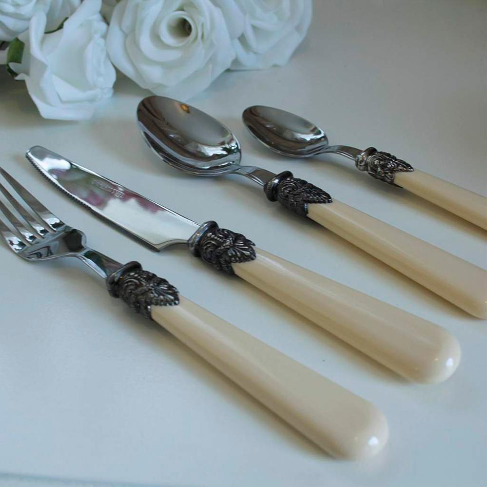 Cream Ornate Cutlery Set | My shopping list | Pinterest | Cutlery ...