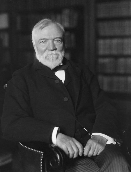 Photograph Portrait Of Andrew Carnegie Seated In A Library 10 X8