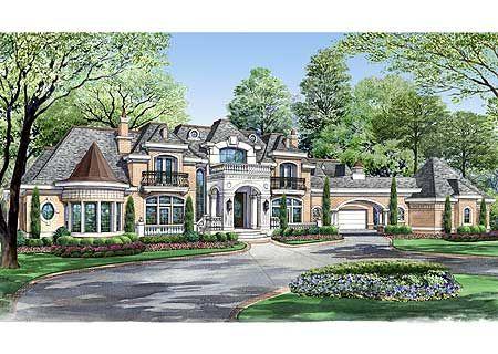 Plan 36323TX: Estate Home Plan with Cabana Room   Cabana, House ...