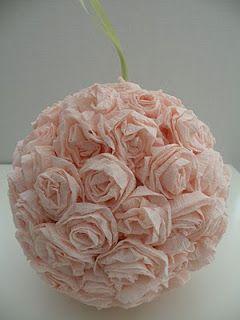 Heart Hands Home Rose Kissing Ball Tutorial Flower Ball Paper Roses Diy Roses