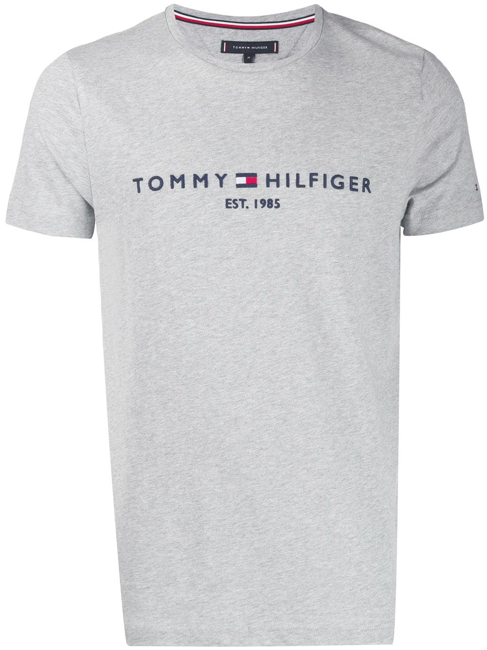 Tommy Hilfiger Tommy Hilfiger Logo Embroidered T Shirt Grey Tommyhilfiger Cloth In 2019 Tommy Hilfiger Shirts Tommy Hilfiger Hilfiger Denim