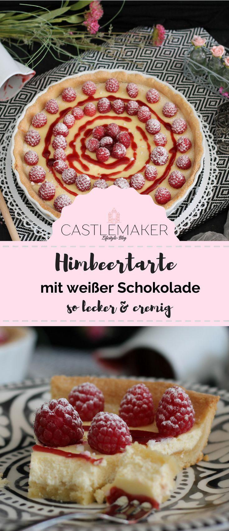 Rezept für cremige Himbeertarte mit weißer Schokolade - Beerentarte   - Castlemaker Lifestyle-Blog Rezepte & mehr -