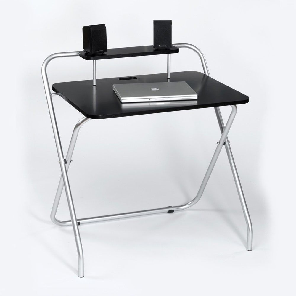 A basic collapsible desk is useful for events and functions that require  temporary table space. When not in use, can be stored in a small space  until neede
