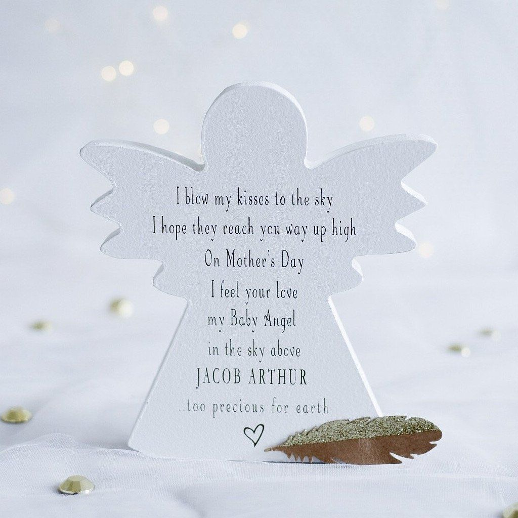 Pewter Baptism Free Standing Message Angel