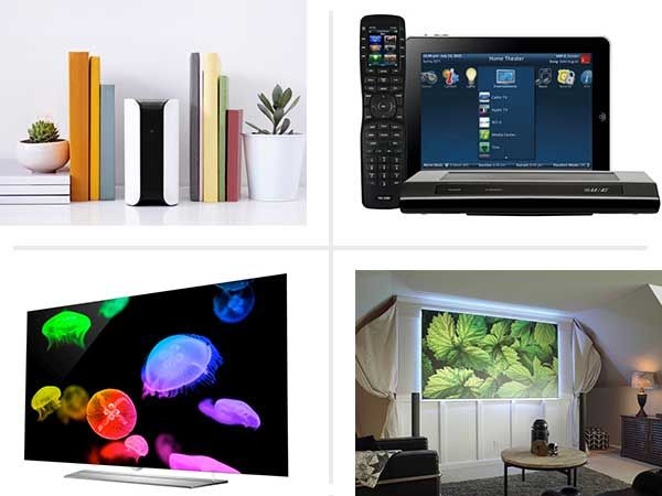 From truly universal remote controls to projector screens that work in the light of day, here are some of the coolest home entertainment and automation products new for 2016.