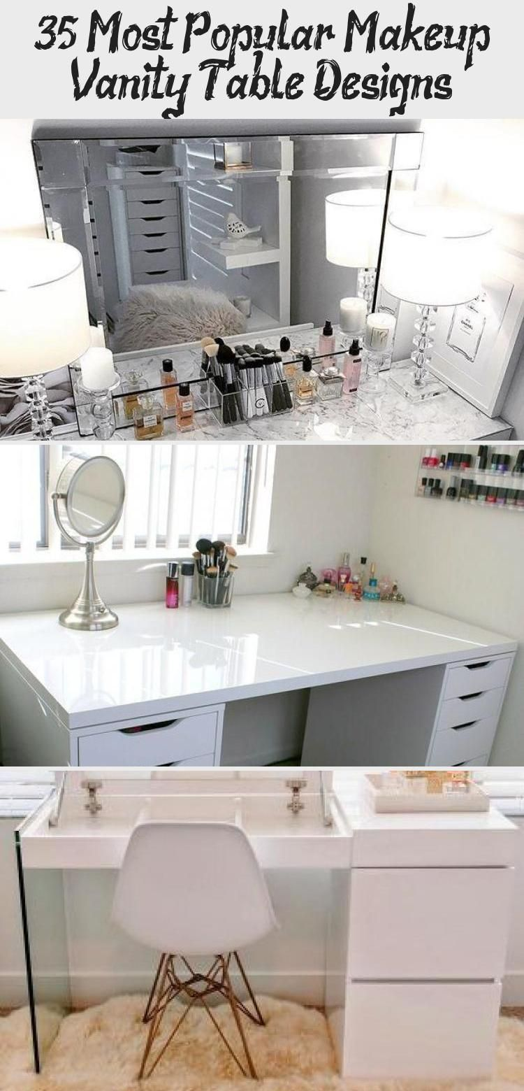 Photo of 35 Most Popular Makeup Vanity Table Designs – PERFUME