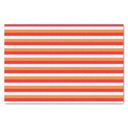 Red White and Orange Stripes Tissue Paper - pattern sample design