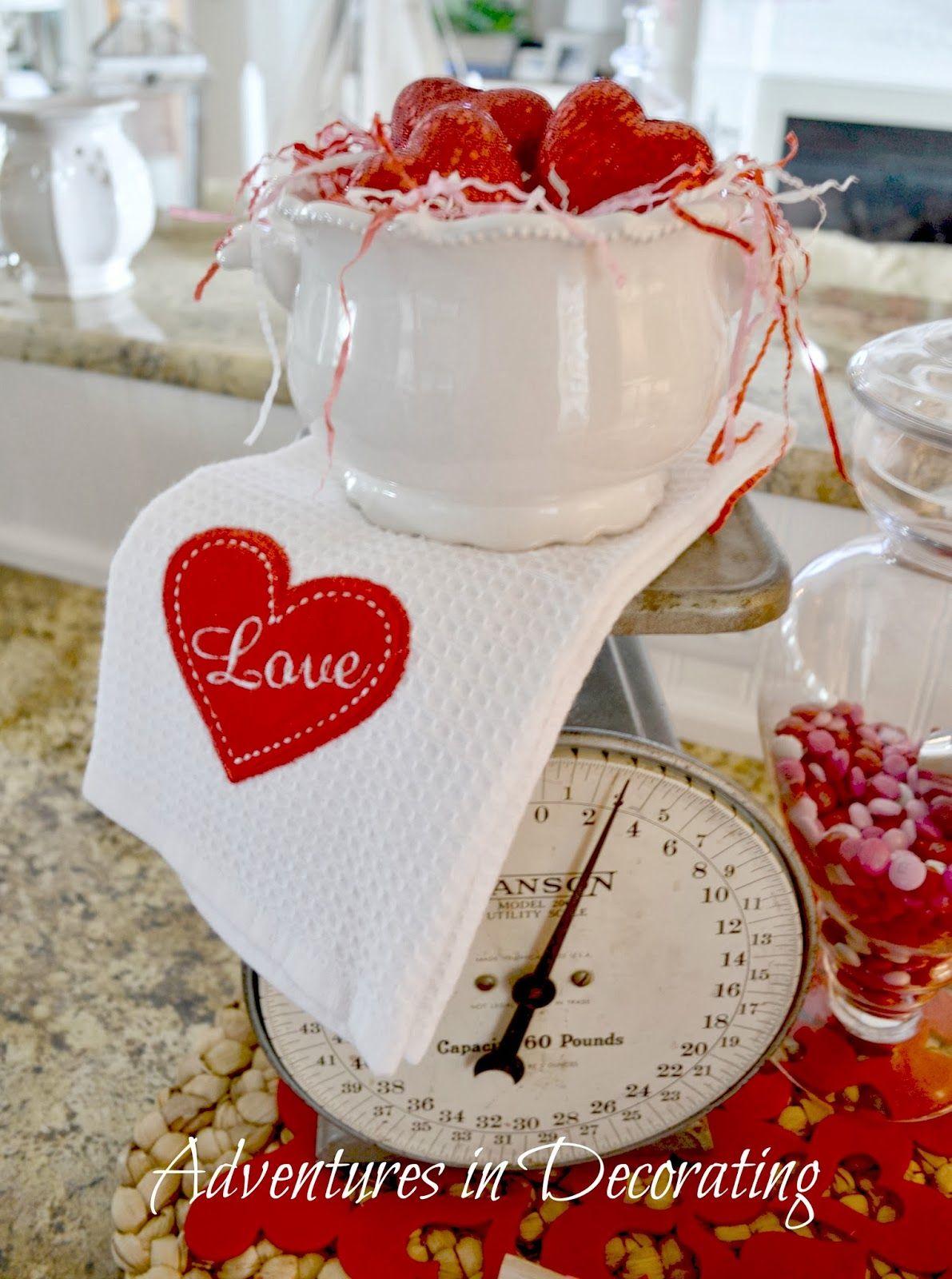 Our Valentine Kitchen | Vintage valentines decorations ...