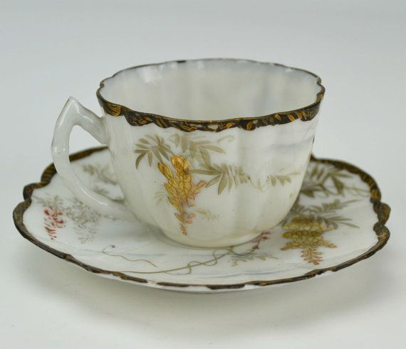 Espresso Coffee Cup and Saucer Antique by LavishShoestring on Etsy