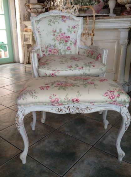 French Floral Chair Shabby Chic Furniture Shabby Chic Decor Shabby Chic Chairs