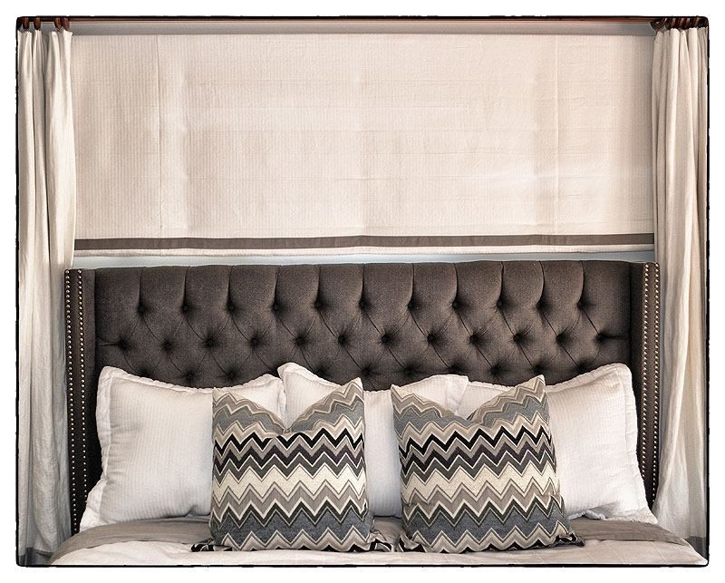 Banded Roman Shade by DrapeStyle in Classic Linen.