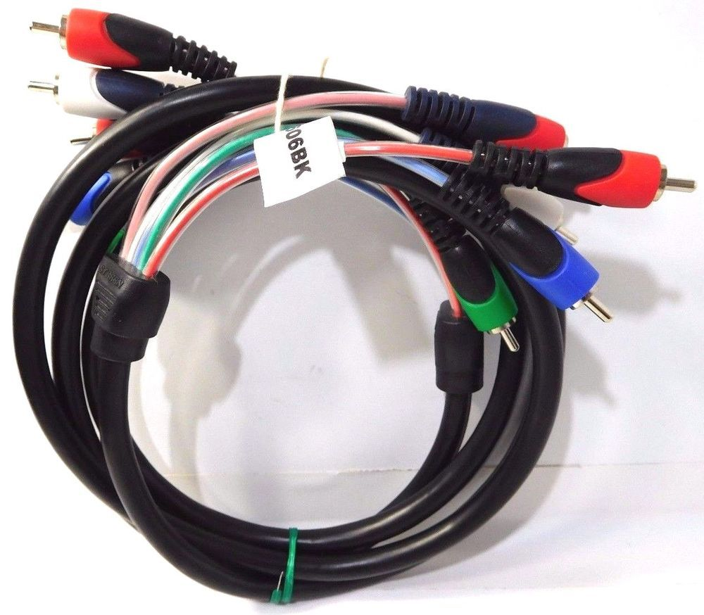 STEREN 257-606BK 6 FT 5-RCA MINI COMPONENT VIDEO AUDIO CABLE NEW limited Deal!! #Steren