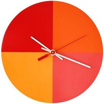orange quarters clock