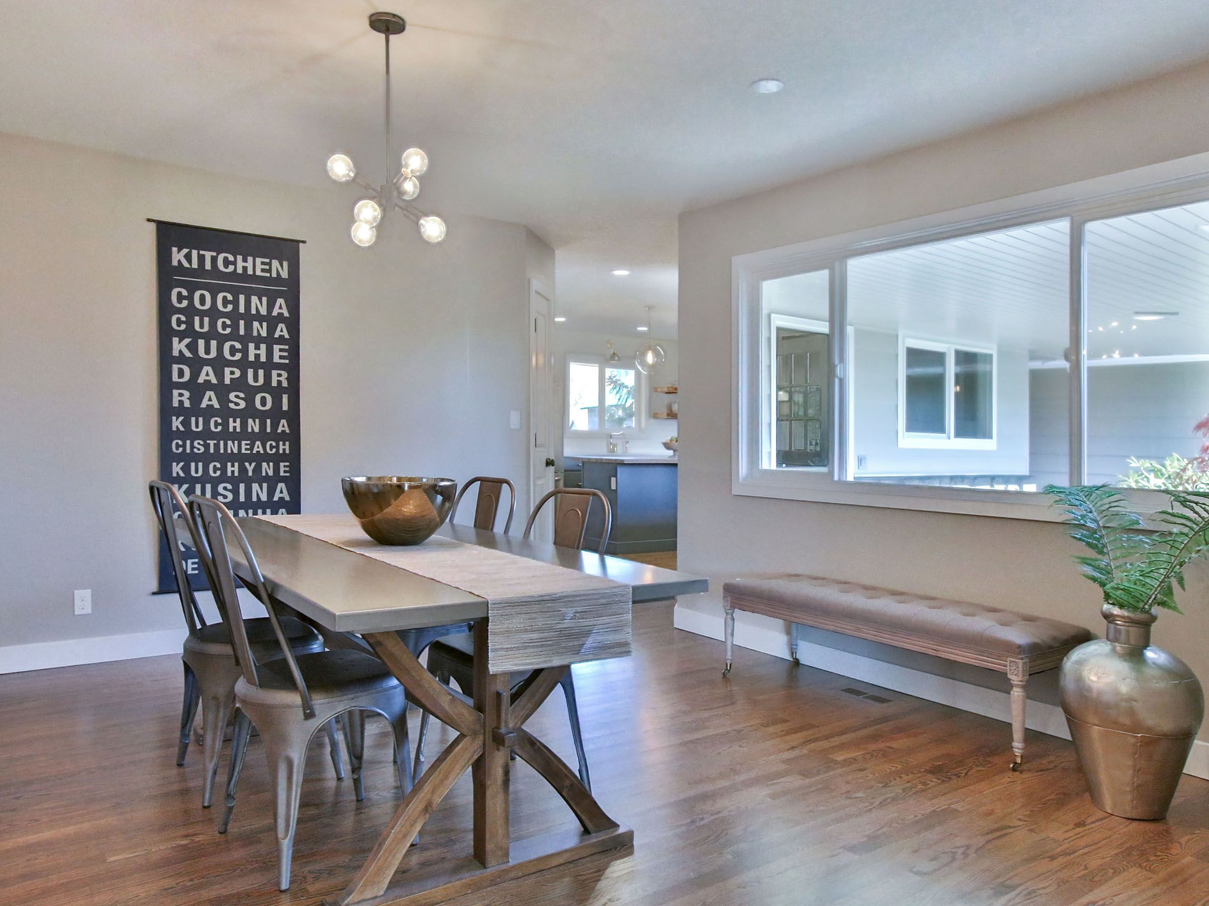 Portland Oregon Staged Home This Is Dining Room Table Always Brings Interest To A