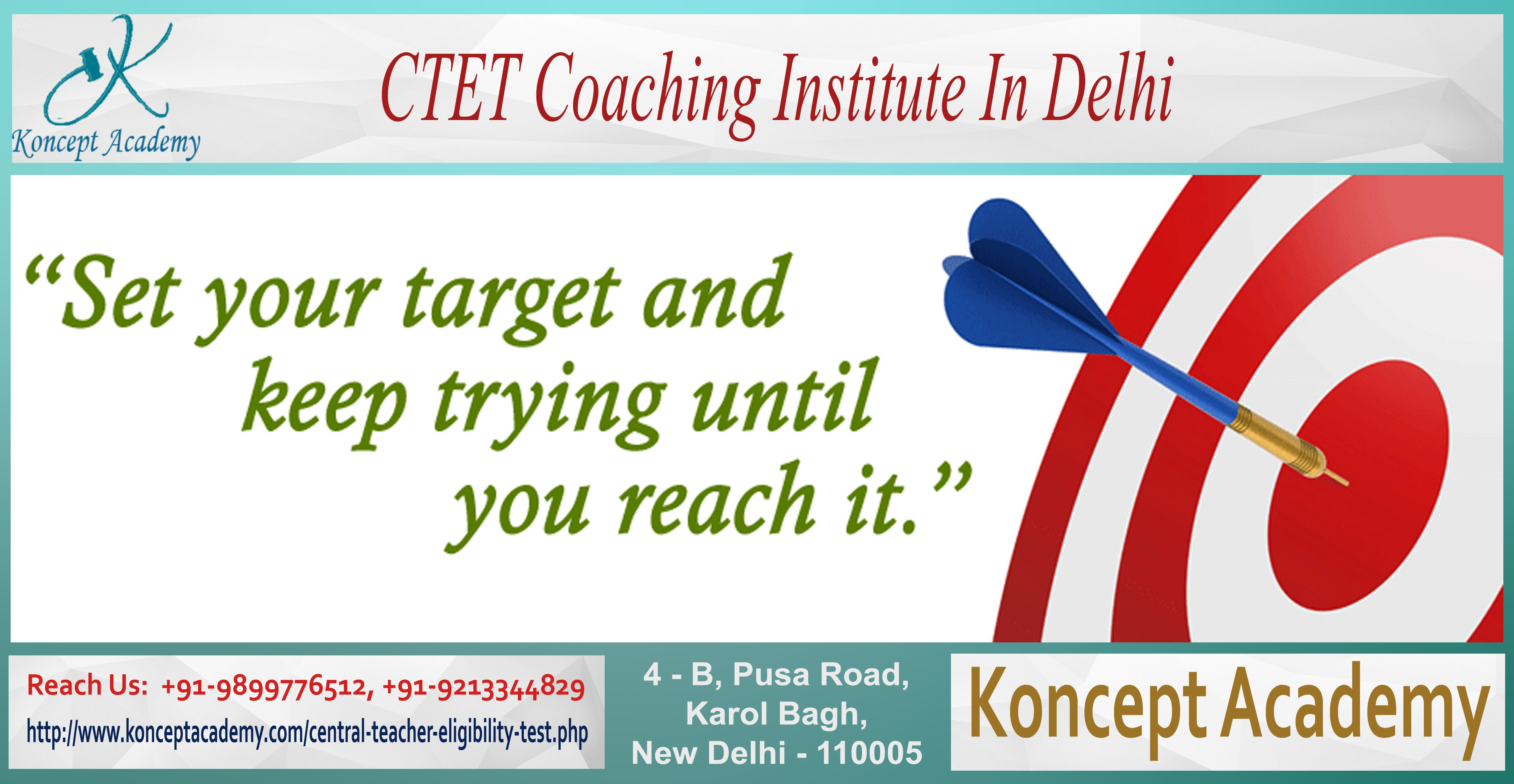 """""""Attend CTET Coaching Classes in Delhi to Prepare for Forthcoming CTET Exams"""" Being a best ctet coaching institute in delhi, Koncept Academy is inviting aspiring candidates who wants to become a teacher, to join high inspiring ctet coaching classes in delhi that is of course helpful in getting prepared for entrance exams and make chance to clear the exams. Visit our web portal http://www.konceptacademy.com/central-teacher-eligibility-test.php for complete information."""