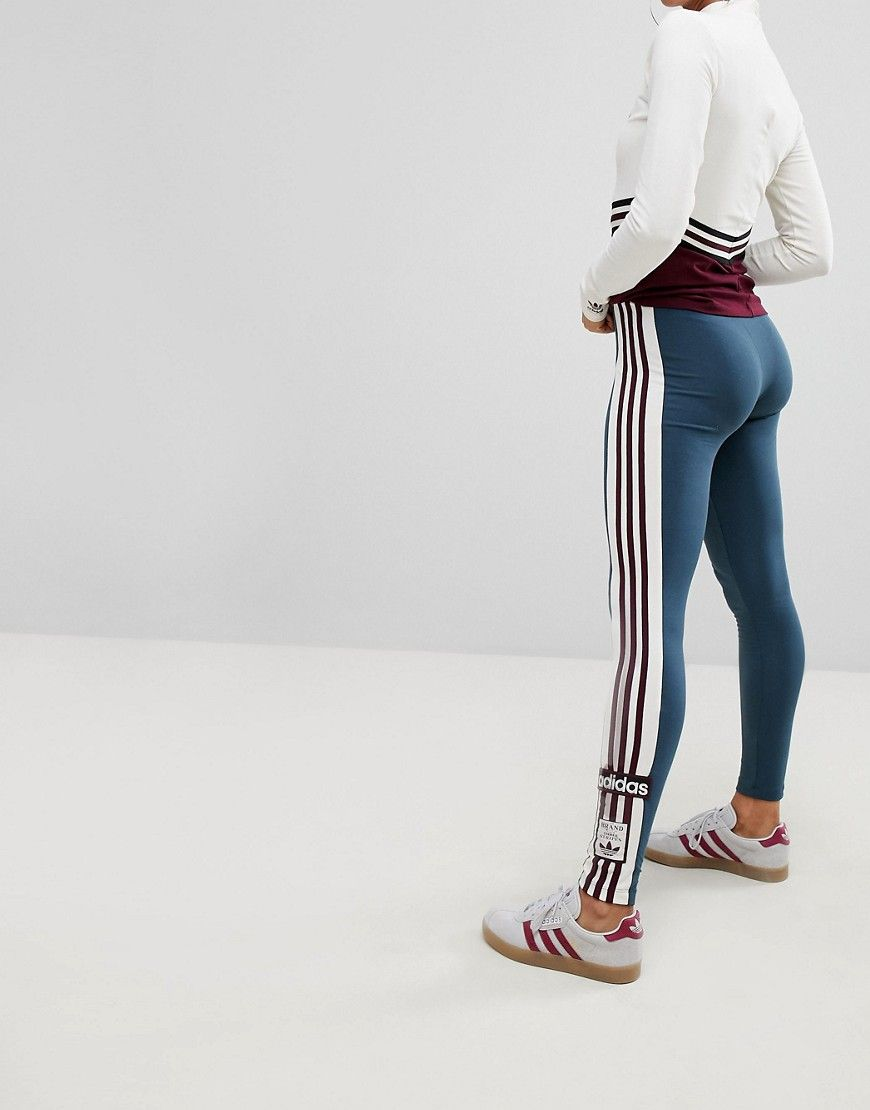 7f0c4d1d255122 adidas Originals Adibreak Leggings In Dark Gray | Fashion | Adidas ...