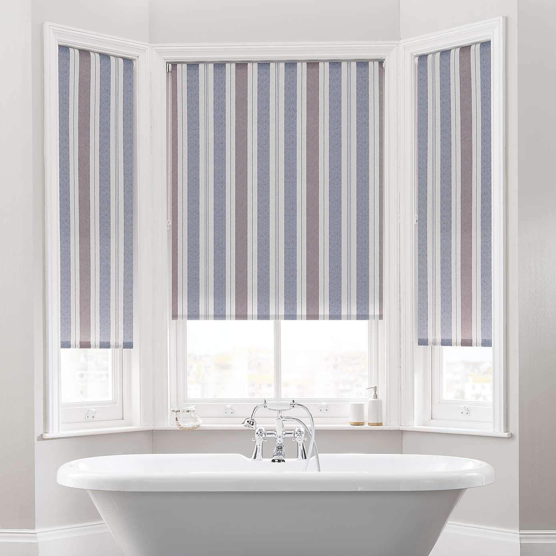 Coastal Stripe Blue Daylight Moisture Resistant Roller Blind Roller Blinds Blinds Roller Blinds Bedroom