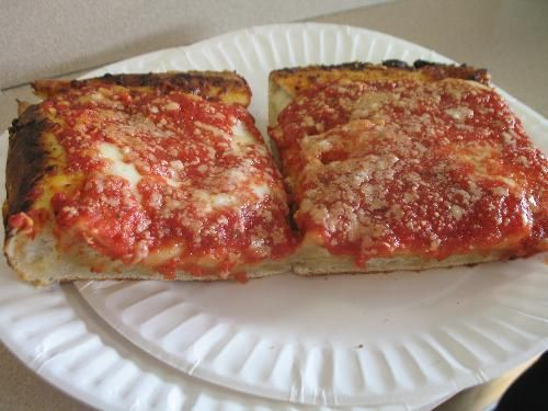 f87158272bf L   B Spumoni Gardens - BEST SQUARE PIZZA EVER!!!!-Brooklyn