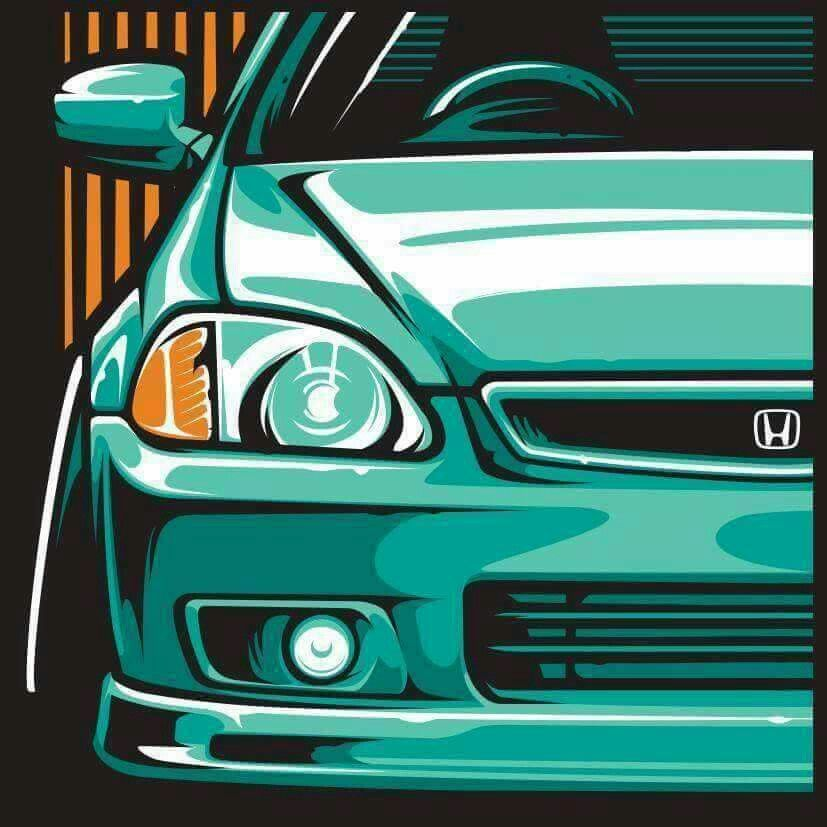 Charmant Honda Civic Coupe, Honda Civic Si, Honda Hatchback, Slammed Cars, Jdm Cars,  Tuner Cars, Honda Motors, Car Drawings, Honda Cars