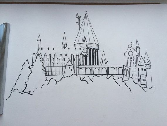 How To Draw Harry Potter Hogwarts Castle Easy