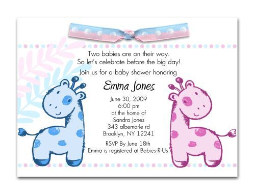 Baby Shower Invitations For Twins Ideas