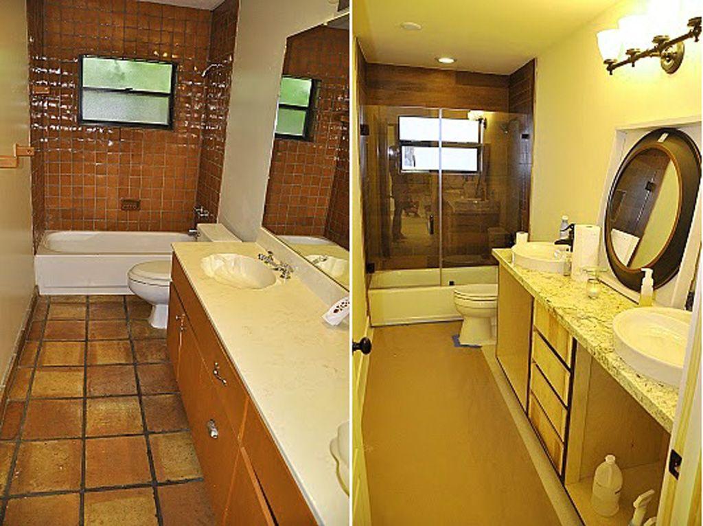 Superieur Bathroom , Minimalist Small Bathroom Makeover Before After : Minimalist Small  Bathroom Makeover Before After 8
