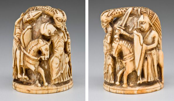 Chess Piece Of A Knight Ca 1120 40 English Ivory Allen Memorial Art Museum Oberlin College Oberlin Ohio R T Miller Jr Fund 1948 Jeux Jouet Ivoire
