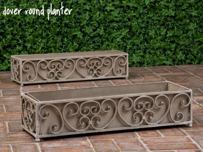Metal Planters Amp Wrought Iron Planters Windowbox Com
