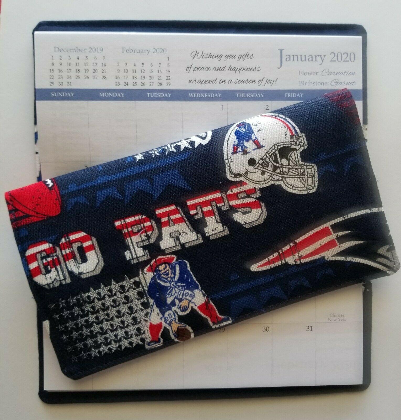 Cotton Fabric New England Patriots 2020 21 Pocket Calendar Appointment Book Pocket Calendar Appointment Book Appointment Calendar
