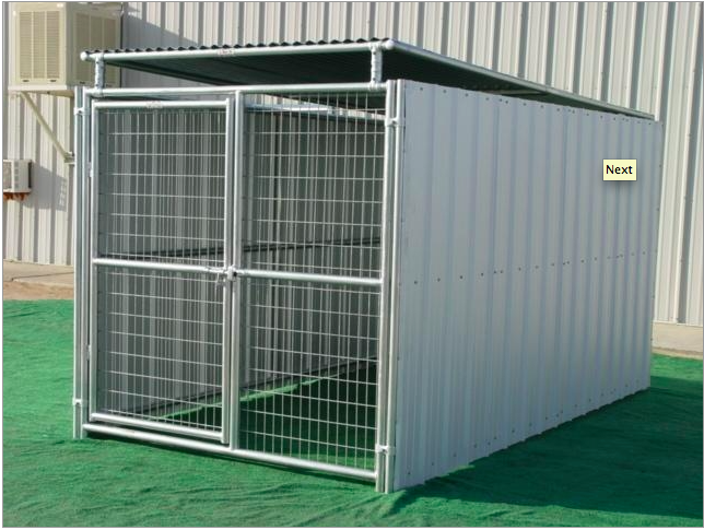 Rhino Dog Kennels heavy duty shed row style enclosed dog kennels are ...
