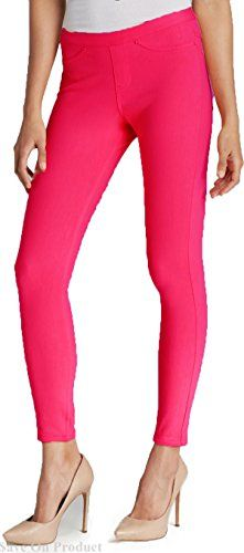 e0f2b28471b44 Hue Womens Original Jeans Leggings Solid Color Love Potion Med (8-10) HUE