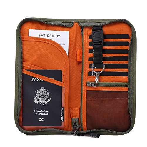 Travel Wallet Accessories Pouch Documents Zipped Passport Holder Holiday Bag