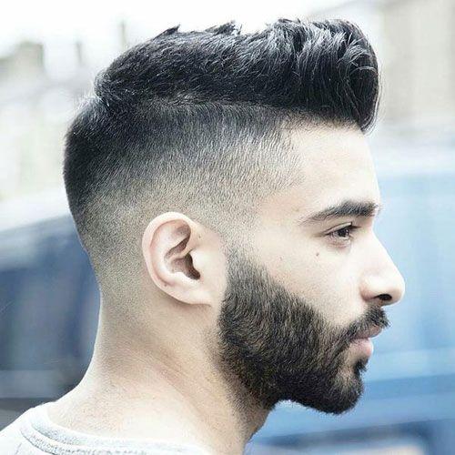 Lovely Undercut Fade + Fohawk + Thick Beard