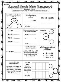 Eureka Math Ny Homework Module 1 Oa 1 Oa 2 Nbt 5 2nd Grade