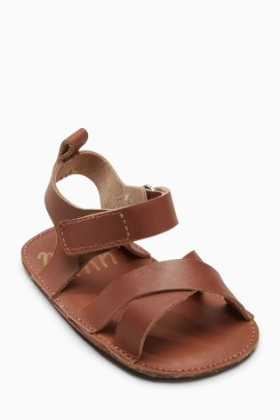 74f567cf1 Tan Pram Leather Sandals (Younger Boys)