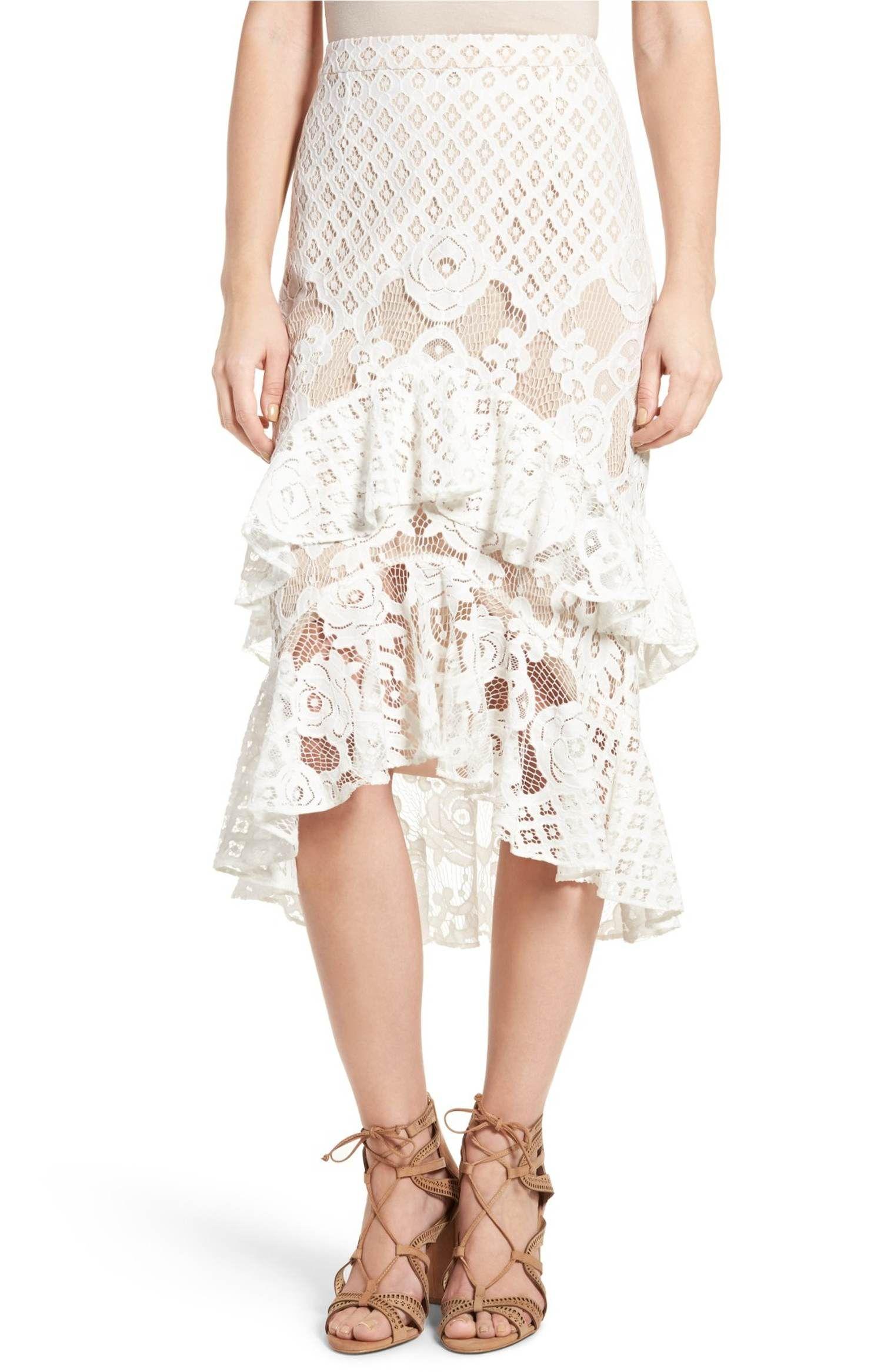 2c9eeb836 Main Image - Chelsea28 Tiered Lace Midi Skirt | Spring 2017 Ideas ...
