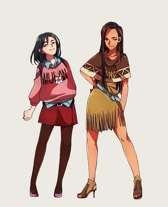 Modern Pocahontas And Mulan