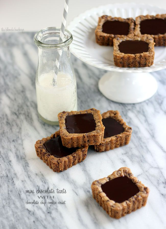 Chocolate Tarts with Chocolate Chip Cookie Crust | (For my ...