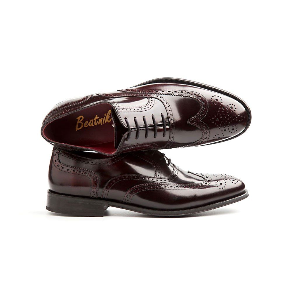 Oxford rojo de hombre en piel Holmes   Zapatos oxford