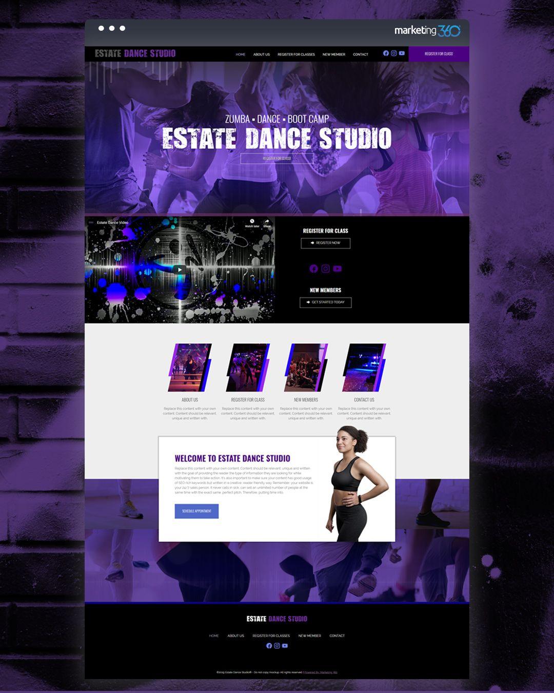 Design Of The Day Dance Studio Website Design Concept By Our Talented Designer Bayley Warren Website Design Dance Studio Web Design