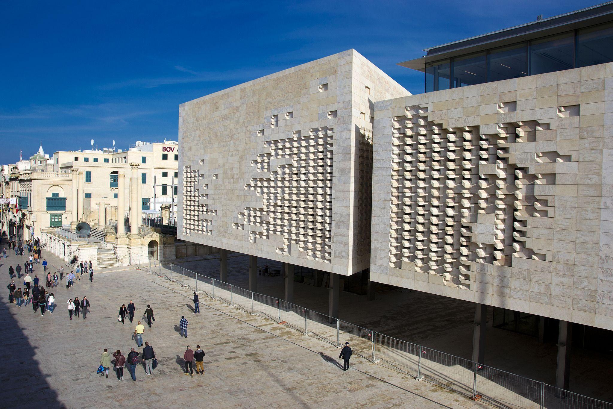 Malta parliament building renzo piano pianos and for Renzo piano malta