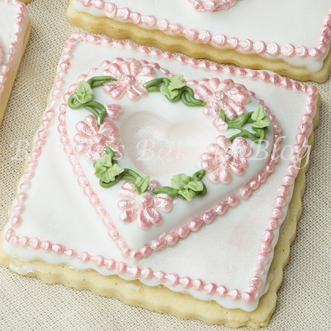 Primrose Garden Tufted Heart on a Sugar Cookie