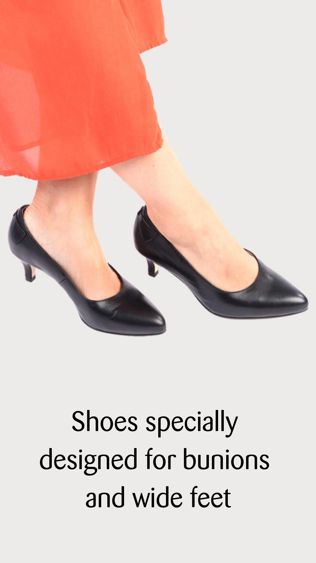 Ava Black Leather Kitten Heels Black Leather Heels Heels