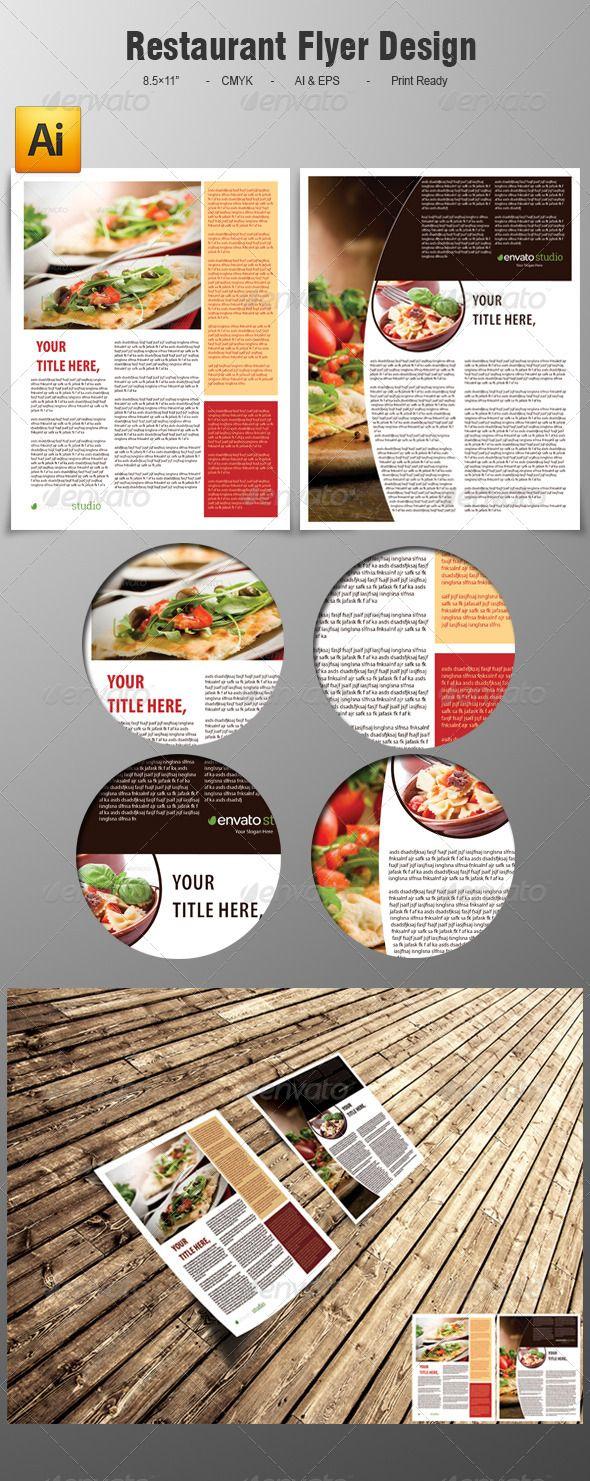 Restaurant Flyer Design  Flyer Size Flyer Template And Restaurants