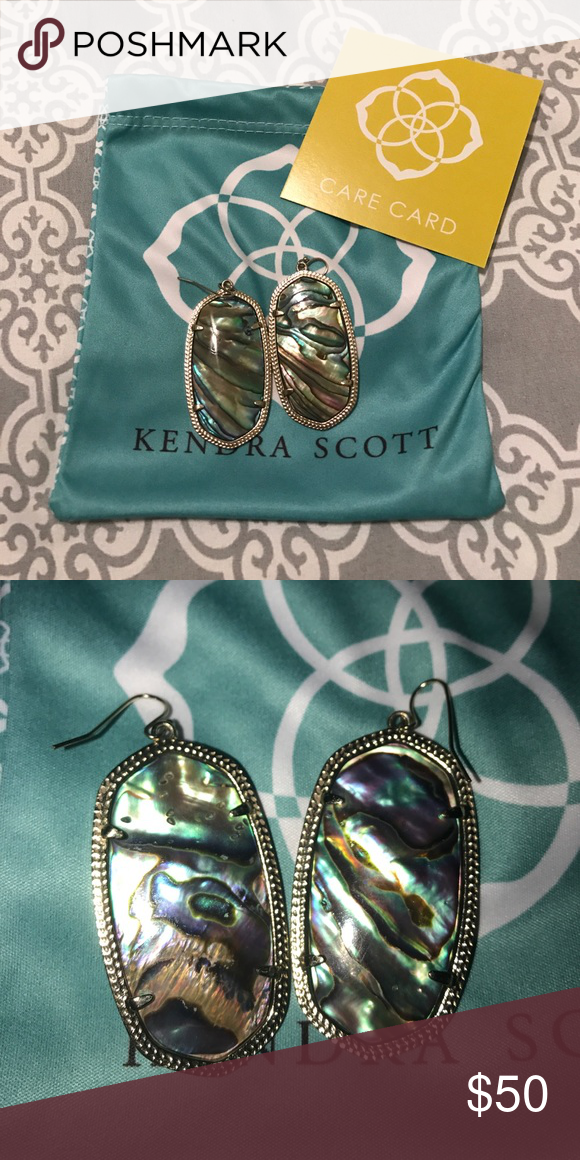 Elle Kendra Scott earrings in Abalone shell No cracks or scratches, hardly worn, comes with pouch, and care card!! Kendra Scott Jewelry Earrings